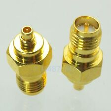 1pce Adapter RP.SMA female plug to MMCX male plug RF connector straight F/M