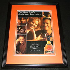2001 Paul Masson Grande Amber Brandy Framed ORIGINAL Vintage Advertisement