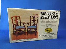 Vintage House of Miniatures Straight Leg Chippendale Arm Chair 1770 No 40028