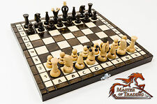THE KINGDOM 30x30cm Wooden Chess Set! Stunning HAND CRAFTED Chessboad and Pieces
