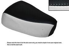 BLACK & WHITE CUSTOM FITS SUZUKI LOVE CL 50 FRONT LEATHER SEAT COVER