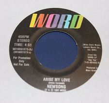 Newsong Arise My Love PROMO 45 From Co Vault Unopened Box NM*