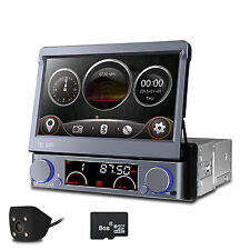 "Single DIN Flip-Out Fashion UI 7"" DVD/CD Player GPS/USB/Bluetooth Radio Camera"