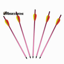 "5X 15"" Aluminium Metal Crossbow Bolts Hunting Bow Archery Arrow for 150 180 lbs"