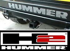 Hummer H2 Rear Bumper Chrome Letters Insert ABS Plastic