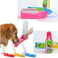 Portable Foldable Plastic Feeding Bowl Dog Cat Travel Pet Water Bottle 6SS U NEW