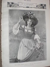 Printed photo actors Ethel Irving Fanny Dango 1903 ref W2