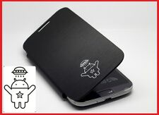 Samsung Galaxy S4 SIV i9500 Flip Cover Case BLACK wth Android UFO robot logo new
