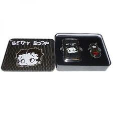 Betty Boop Cigarette Case And Lighter Gift Set - Black Betty Design - Ideal Gift