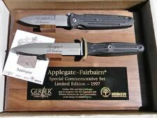 GERBER-BOKER-rare 1997 APPLEGATE FAIRBAIRN combat knives set 492/3000 papers NIB
