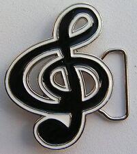 Clave De Sol Música Note blanco y negro Hebilla Cinturón para poner en Nuevo