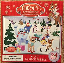 Rudolph The Red Nosed Reindeer 24 Piece Puzzle New Clarice Bumble Free Shipping