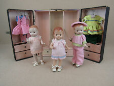 Vintage Effanbee Patsy type & Patsyette Doll LOT with clothing & wardrobe trunk