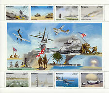 Tanzania 1995 MNH WWII VE Day 50th World War II 8v M/S Ships Tanks D-Day Stamps