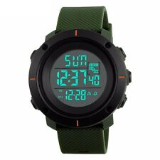 New Fashion Black Mens Rubber LED Digital Date Military Quartz Sport Wrist Watch