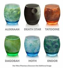 Star Wars Planetary Glassware Set of 6 Death Star Solar System Kitchen-Dining