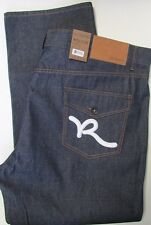 "NWT  Rocawear Classic Fit Jeans ""R"" Flap Jean w/White Embroidery Sz W 52 x L 32"