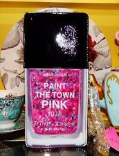 Betsey Johnson RARE Handbag NAIL POLISH Pink Glitter PAINT THE TOWN Shoulder Bag