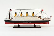 """RMS Titanic Cruise Ship 25"""" - Handcrafted Wooden Model Ship NEW"""