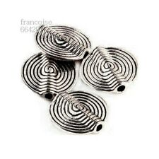 4 Intercalaires spacer Ronde spirale 16x15x4.5mm Perles apprêts créa bijoux A236