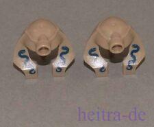 Lego - 2 x casco para momia serpientes inscripciones oscuro arena colores 90462pb02 Artículo nuevo