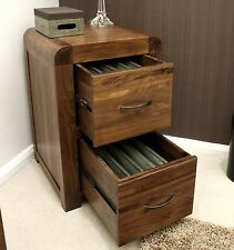 Strathmore solid walnut home furniture small two drawer office computer filing c