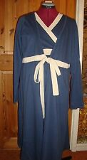 BNWT MATERNITY Blue/Cream Long Sleeved Robe/Dressing Gown XL - 16-18