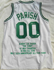 ROBERT PARISH SIGNED NBA CUSTOM BOSTON CELTICS WHITE JERSEY JSA WITNESSED COA