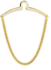 HERRINGBONE TIE CHAIN GOLD TONE