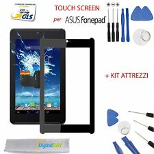 TOUCH SCREEN VETRO GLASS NERO DISPLAY ASUS FONEPAD 7 ME372, K00E + kit
