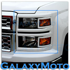 14-15 Chevy Silverado 1500 Extended+Crew Cab Summit White Headlight Trim Cover