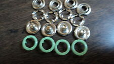 "4-PART OPEN RING SNAPS-SIZE 16-3/8"" LT-GREEN   1 DOZEN-MADE IN THE USA"