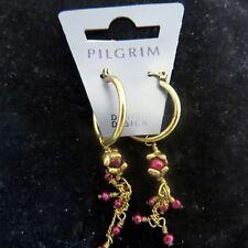 Pilgrim Jewelry Lovely Sugar Plum Drop Dangle Snap Closure Earrings: 318323 B