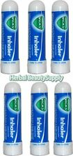 6 x .5ml Vicks Inhaler Allergy Cold Nasal Blocked Nose Relief Congestion USA