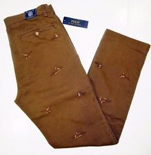Polo Ralph Lauren straight fit embroidered bedford chino pants size 38x30   NEW