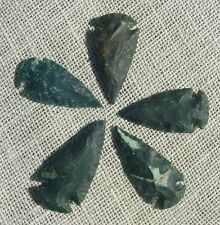"""2"""" inch arrowheads 5 points dark colors mixed reproduction spear points sa742"""