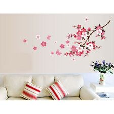 Cherry Peach Plum Blossom Flower Butterfly Mural Wall Decal Stickers Home Decor