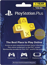 PlayStation Plus 1 Jahr (365 Tage) Network PSN [US Store] PS4 PS3 PS4 key code