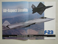2/1991 PUB NORTHROP MCDONNELL DOUGLAS YF-23 F-23 STEALTH ATF FIGHTER ORIGINAL AD