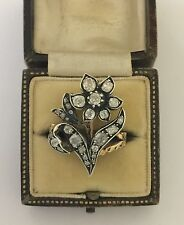 A Magnificent Georgian 4ct Old Cut Diamond Flower Cluster Ring Circa 1800's