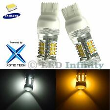 2x Dual Color High Power 7443 Switchback 31-SMD Samsung LED Turn Signal Bulbs