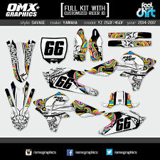 YAMAHA YZF 250 450 4-stroke decals stickers graphics kit  2014 2015 2016 SAVAGEC