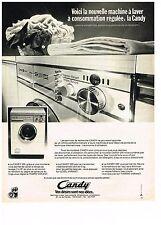 PUBLICITE  1976   CANDY  machine à laver lave linge consommation régulée