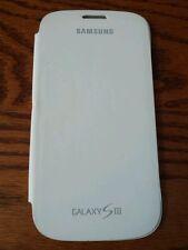 OEM SAMSUNG GALAXY S3 FLIP CASE COVER WHITE EFC-1G6FWE