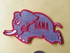 Alabama Crimson Tide Vintage Embroidered Iron On Patch Running Elephant Bama A1