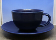 Iittala Arabia Finland 24h Coffee Cup and Saucer Set Heikki Orvola Matte Blue