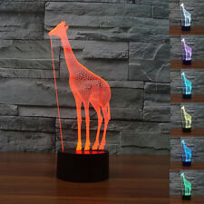 Animals Giraffe 3D LED Touch Control Night Light 7 Colors Change Desk Table Lamp