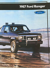 Great Condition 1987 FORD RANGER BROCHURE 87