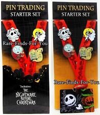 Disney Parks Nightmare Before Christmas Lanyard 4-Pin Booster Set Jack Sally NEW