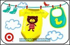 TARGET 2009 USA BABY CLOTHES ON THE ROPE TEDDY BEAR COLLECTIBLE GIFT CARD